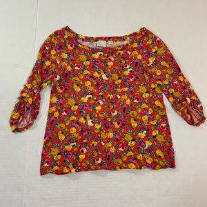Anthropologie Postmark Floral Top Blouse Shirt XS